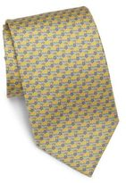 Salvatore Ferragamo Dolphin & Star Silk Tie