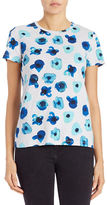 Lord & Taylor Petite Floral Print Tee