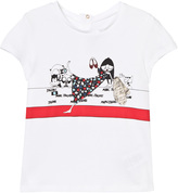 Little Marc Jacobs White Miss Marc on the Red Carpet Print Tee