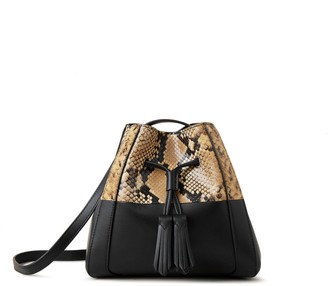 Mulberry Mini Millie Sable and Black Python Printed Leather and Silky Calf