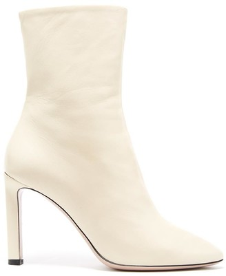 Oscar de la Renta Leather Rugby Ankle Boot