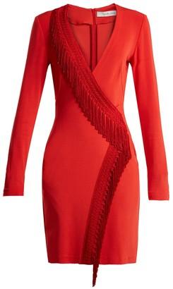 Wrap Fringe Detail Dress Red