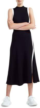 Maje Preco Rose Knit Midi Dress