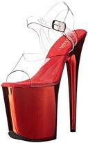 Pleaser USA Women's FLAM808/C/RCH Platform dress Sandal