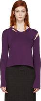Ann Demeulemeester Purple Median Pullover