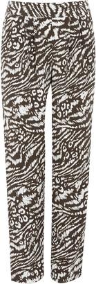 Wallis **TALL Khaki Animal Print Tapered Trouser