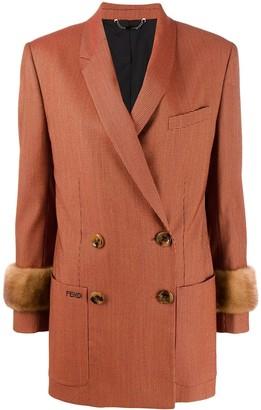 Fendi double breasted jacquard blazer