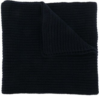 Stone Island ribbed knit scarf