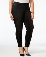 American Rag Trendy Plus Size Stellar Wash Ripped Jeans, Only at Macy's