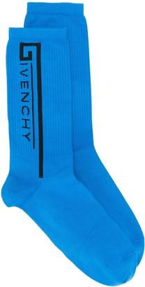 Givenchy Logo Printed Socks