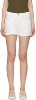 Levi's Levis White Denim 501 Shorts