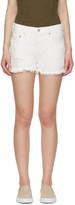Levi's White Denim 501 Shorts