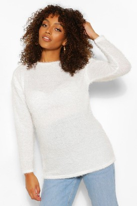 boohoo Maternity Fluffy Knit Jumper