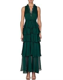Shona Joy Sadie Tiered Drawstring Midi Dress