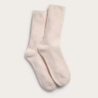 The White Company Bed Socks with Cashmere, Petal Pink, One Size