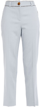 Peter Pilotto Cropped Stretch-crepe Straight-leg Pants