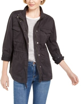 Style&Co. Style & Co Petite Cotton Utility Jacket, Created for Macy's