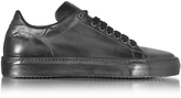 Cesare Paciotti Anthracite Leather Men's Sneaker