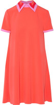 Roksanda Radner crepe-trimmed stretch-cady mini dress