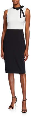 Maggy London Colorblock Bow-Neck Sheath Dress