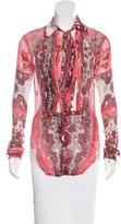 Jean Paul Gaultier Floral Button-Up Top