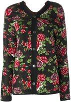 Comme des Garcons floral print cardigan