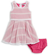 DKNY Girls 2-6x Mesh Dress and Bloomers Set