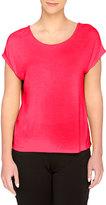 Catherine Malandrino Moni Short-Sleeve Jersey Top, Pink Bliss