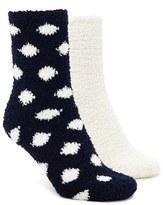 Forever 21 FOREVER 21+ Polka Dot Fuzzy Socks - 2 Pack