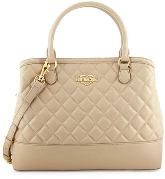 Love Moschino Quilted Faux-Leather Tote