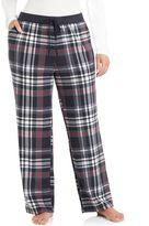 Cuddl Duds Plus Size Color Avalanche Microfleece Lounge Pants
