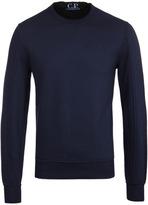 Cp Company Navy Lightweight Crew Neck Sweatshirt