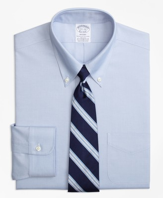 Brooks Brothers Stretch Regent Fitted Dress Shirt, Non-Iron Pinpoint Button-Down Collar