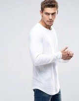 Esprit Longline Longsleeve T-shirt With Curved Hem