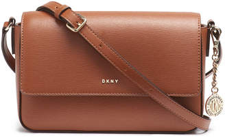 DKNY Sutton Leather Bryant Flap Crossbody