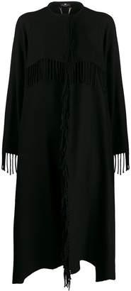 Elisabetta Franchi oversized knitted logo coat