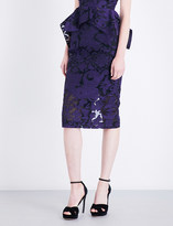 Roland Mouret Norley brocade pencil skirt
