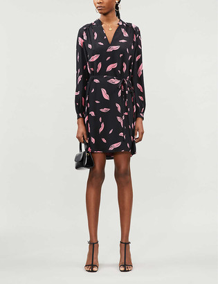 Diane von Furstenberg Glenda lip-print silk-crepe mini dress