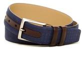 Mezlan Tile Etched Leather Belt