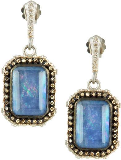 Armenta New World Blue Sapphire Triplet Earrings with Diamonds