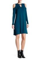 Bobeau Keyhole Cold Shoulder Dress