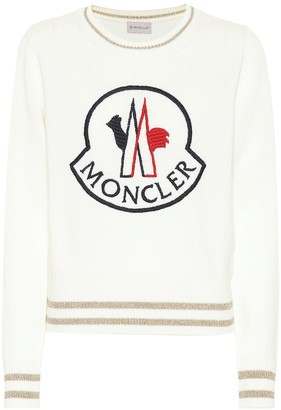 Moncler Logo wool and cashmere sweater
