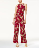 Thalia Sodi Printed Chain-Detail Halter Jumpsuit, Created for Macy's