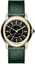 Marc Jacobs Women's Courtney Dark Green Leather Strap Watch 34mm MJ1490