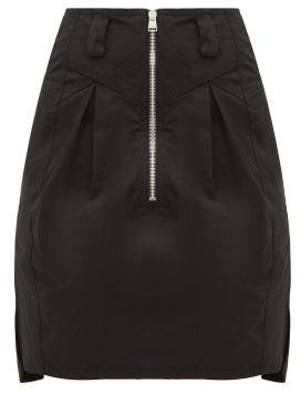 Isabel Marant Hera Panelled Cotton-canvas Mini Skirt - Womens - Black