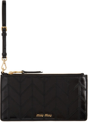 Miu Miu Black Leather Pouch Wallet