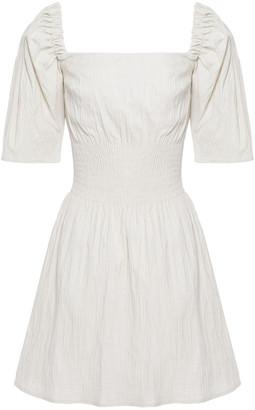 Anna Quan Terri Shirred Stretch-jacquard Mini Dress