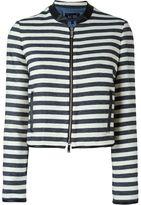 Armani Jeans striped cropped jacket