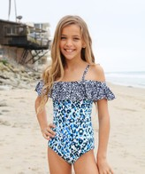 Splendid Girls Tropic Spots Ruffled One Piece