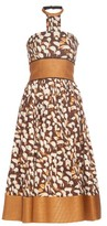 Sophie Theallet Mogambo abstract-print strapless dress